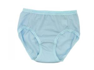 BLUE plain high cut briefs panties for Urinary incontinence in elderly female